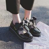 娃娃鞋日系洛麗塔LOLITA厚底女鞋可愛蝴蝶結圓頭娃娃鞋原宿平底軟妹皮鞋 時尚新品
