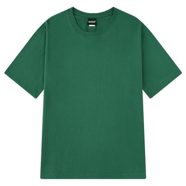 嘻哈純棉純色情侶短袖打底衫T恤白色男女體恤純黑半袖衣服上衣