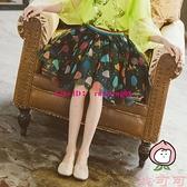 女童半身裙韓版中大童網紗裙夏季兒童蓬蓬裙短裙潮【桃可可服飾】