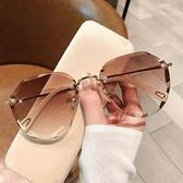 太陽眼鏡 墨鏡女ins2021年新款圓臉韓版潮時尚太陽眼鏡防紫外線大臉顯瘦21 夢藝家