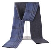 羊毛圍巾-格紋拼色雙面針織男披肩3色73wh24【時尚巴黎】