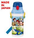 里和家居 迪士尼玩具總動員(藍色) 日本製單手彈蓋直飲水壺480ml 飲料壺