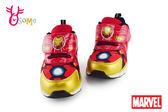 Marvel 復仇者聯盟 鋼鐵人 童運動鞋 電燈鞋 F8189#紅色◆OSOME奧森童鞋