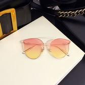 太陽鏡女潮黃色街拍款大框圓臉防紫外線墨鏡透明果凍眼鏡流行 創想數位