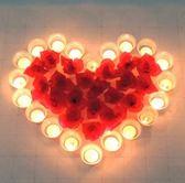 週年慶優惠-蠟燭 求愛告白生日錶白創意心形蠟燭浪漫愛心套餐玫瑰求婚神器布置道具