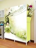簡易布藝衣櫃鋼管加固簡約現代折疊小衣櫥宿舍組裝經濟型省空間     汪喵百貨