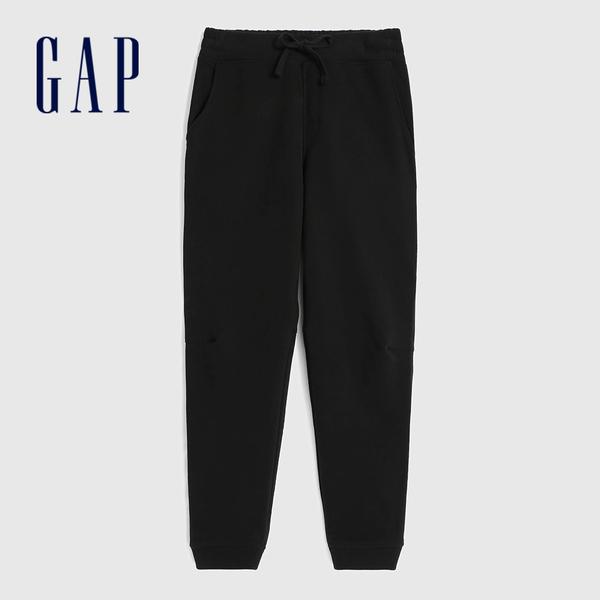 Gap男裝 簡約風格基本款鬆緊針織褲 618887-黑色