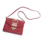 Petite Jolie  復古金屬扣飾果凍信封包-紅色