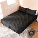 ↘ 加大 ↘ MIT台灣精製 透氣防潑水技術處理床包式保潔墊(黑色)