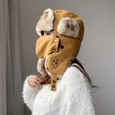 雷鋒帽女保暖護耳帽騎車冬季加厚韓版防風棉帽【少女顏究院】
