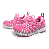《7+1童鞋》中童 NIKE DYNAMO FREE (PS) 輕量毛毛蟲鞋 閃耀星芒 特別款 運動鞋 H807 粉色