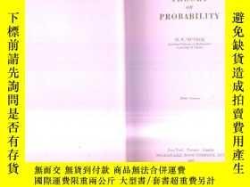 二手書博民逛書店1951年英文原版《THEORY罕見OF PROBABILITY