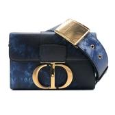 【台中米蘭站】全新品 Dior 30 Montaigne Box Tie & Dior 牛皮蒙田斜背包(藍)