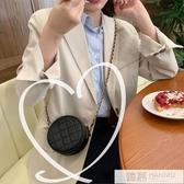 2019韓版時尚可愛單肩包女小包斜挎洋氣網紅小圓包迷你菱格錬條包 韓慕精品
