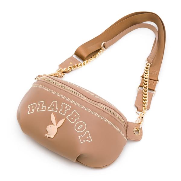 PLAYBOY - 單肩背包-腰包款型 Chic系列 - 卡其色