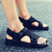 涼鞋 2019夏季新款涼鞋男士韓版一字拖防滑沙灘鞋休閒室外穿涼拖鞋潮男 2色36-46
