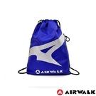 Backbager 背包族【美國 AIRWALK】經典美式塗鴉雙面束口後背包(藍/黃)