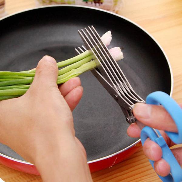 廚房用品   創意不鏽鋼廚房多層蔬菜剪刀 料理剪刀 蔬果剪刀 廚房剪刀 剪刀 【KFS047】-收納女王