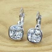 耳環 925純銀鑲鑽-耀眼簡約生日情人節禮物女耳針73gt37【時尚巴黎】
