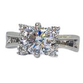 【御鑽利保】GIA 30分 F color 雙環設計18K金鑽戒 凡購買30分以上 一年內八折回收 一年後全折回收
