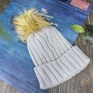 保暖針織帽-女款雙層加厚針織保暖防風毛線冬帽+可拆卸毛球JUNIPER(J5117)