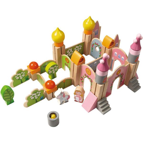 JAKO-O德國野酷-HABA粉紅泡泡木製城堡組