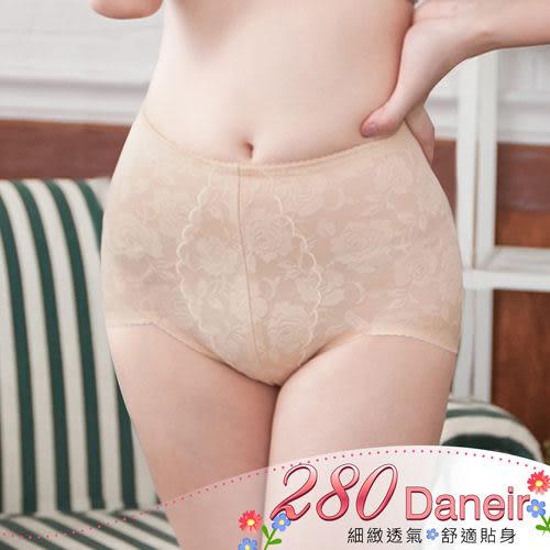 束褲  280D 中腰機能立體浮花透氣提臀塑褲M-XXL(膚色)【Daima黛瑪】
