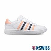 K-SWISS Montara時尚運動鞋-女-白/蜜桃橘/深灰紫