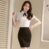 襯衫 夏裝短袖條紋襯衫職業正裝
