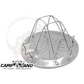 【速捷戶外】CAMP-LAND RV-ST240 不繡鋼烤麵包架.烤土司 生菜 鍋蓋架