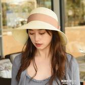 夏天禮帽海邊防曬太陽帽韓版大檐帽遮陽帽女度假草帽沙灘帽多款選  凱斯盾數位3C