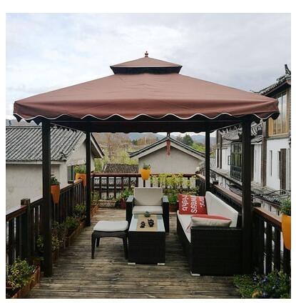 遮阳棚 露天雨棚戶外遮陽棚庭院防雨廣告四角傘室外四腳大型帳篷頂布院子 城市科技DF