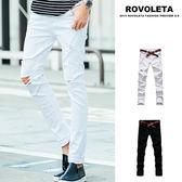 破壞素色牛仔褲【SB-N4016】(ROVOLETA)