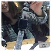 apple watch腕帶朋克骷髏頭iwatch錶帶復古真皮【小檸檬3C】
