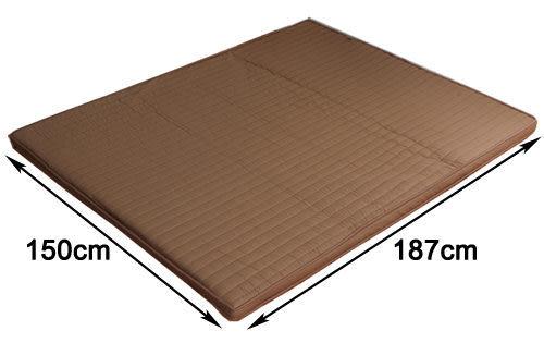 《家購網寢俱館》星辰系列-巧克力冬夏兩用折疊床墊-雙人