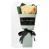 O Pretty 歐沛媞 浪漫玫瑰香皂花束-鵝黃(17cm)[附外盒]-婚禮宴客適用
