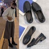 新款英倫小皮鞋女學院風韓版百搭軟皮學生小黑鞋復古jk日系樂福鞋 雙十二全館免運