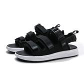 NEW BALANCE 黑白 黏帶 魔鬼氈 涼鞋 運動拖 男女 (布魯克林) SDL750BW