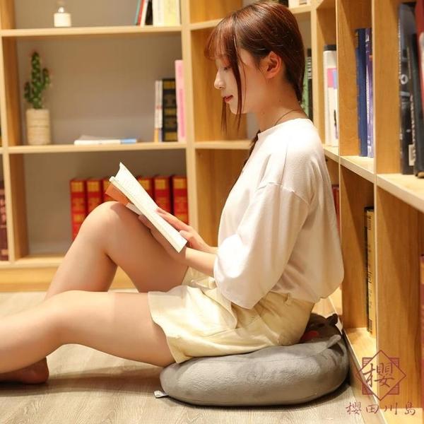 汽車坐墊椅墊沙發靠背學生增高榻榻米屁墊子【櫻田川島】