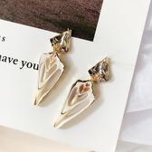 耳環 個性 金屬 亮片 幾何 不規則 鏤空 菱形 貝殼 氣質 耳釘 耳環【DD1902060】 ENTER  12/19