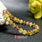 髮晶手鍊(髮晶珠子,珠徑約6~6.5mm...
