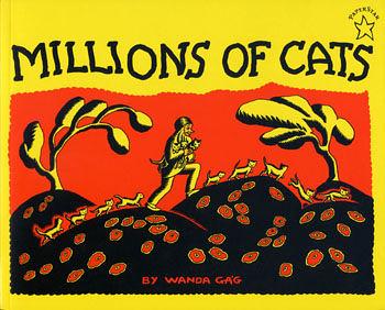 【麥克書店】『小熊媽的經典英語繪本』MILLIONS OF CATS (一百萬隻貓) /英文繪本+CD