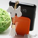 韓國狗狗流蘇平板手機吊飾耳機孔防塵塞 多色 現貨