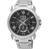 【人文行旅】SEIKO | 精工錶 SNP141J1 Premier KINETIC人動電能 藍寶石水晶鏡面 萬年曆腕錶
