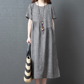 直條紋顯瘦拼接感洋裝 獨具衣格 J2971