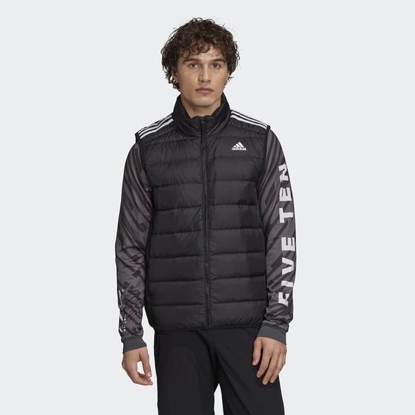Adidas ESS DOWN VEST 男款黑色羽絨背心-NO.GH4583