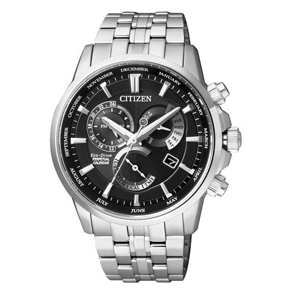 CITIZEN Eco-Drive 航太日記時尚腕錶-BL8140-80E