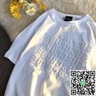 短袖t恤女潮設計感小眾半袖情侶裝潮流夏季上衣【小檸檬3C數碼館】