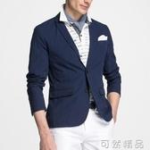 夏季西裝男上衣單件青年韓版修身休閒小西服純棉外套