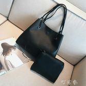 韓版女包大容量子母包簡約百搭單肩斜背手提包托特大包包 盯目家